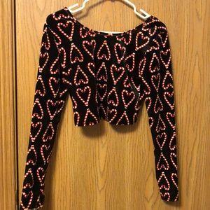 Christmas velvet top and skirt